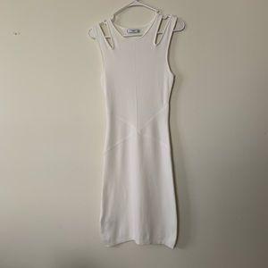 Mango Midi White Dress